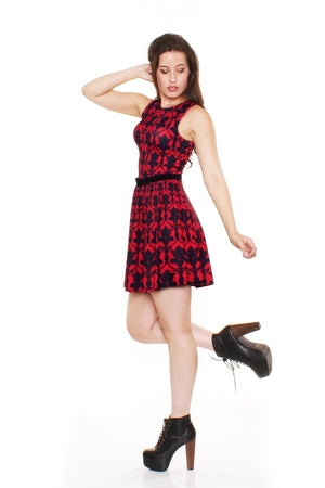 Bored Red A-Line Dress