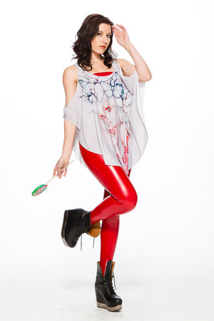 "Camilla d'Errico's ""Strawberry Whispers"" Poncho Tank"