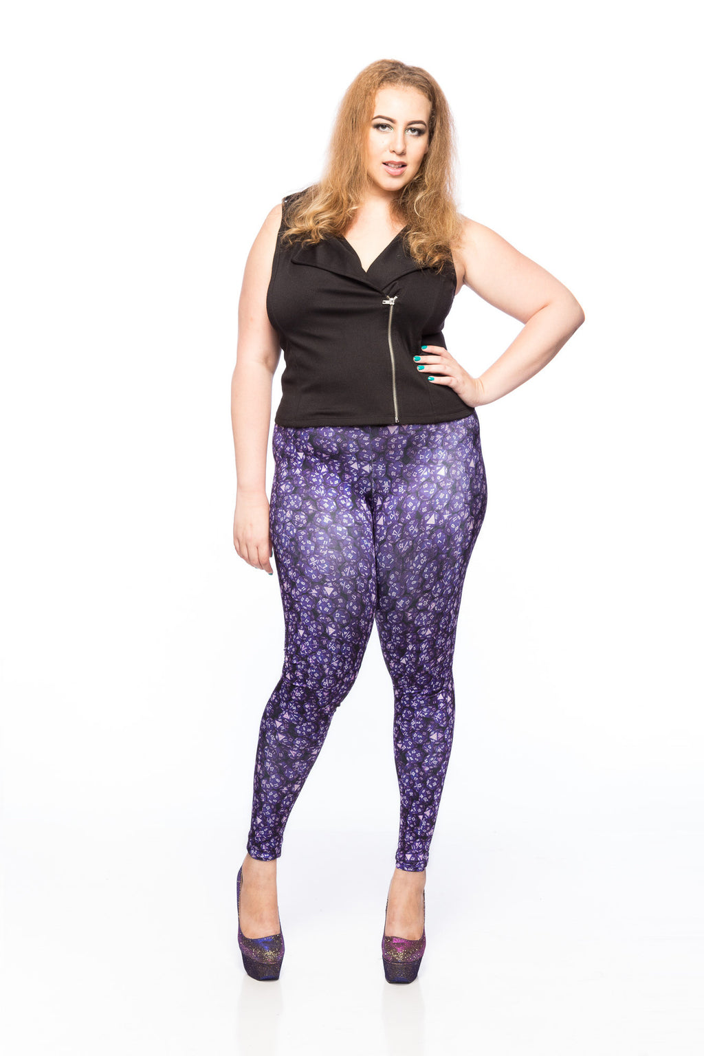 D20 Purple Leggings