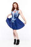 Gamer at Heart (Blue Variant) A-Line Dress