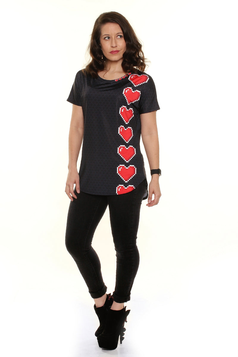 Loaded Hearts Loose Fit Tunic