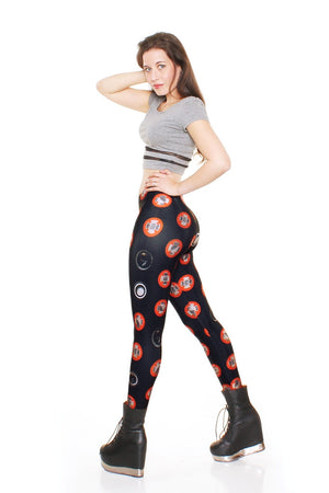 MechaDots Black Leggings - LIMITED