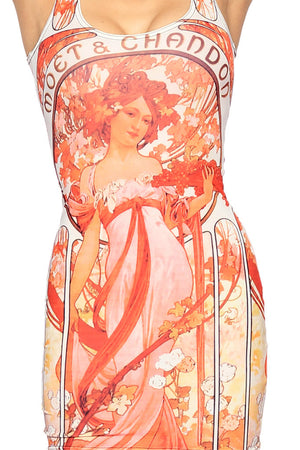 "Alphonse Mucha's ""Champagne"" Dress"
