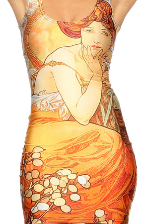 "Alphonse Mucha's ""Topaz"" Dress"