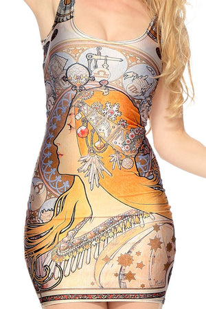 "Alphonse Mucha's ""Zodiac"" Dress"