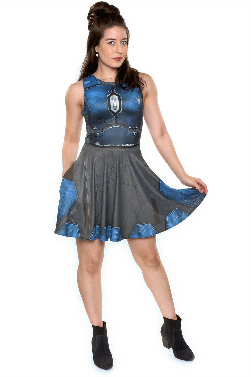 Nighthawk Blue A-Line Dress