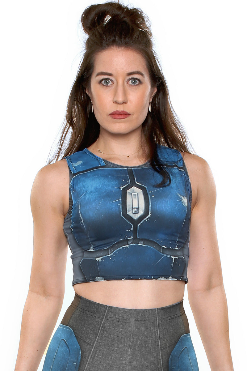 Nighthawk Blue Crop Top