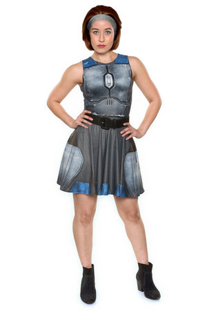 Nighthawk Grey A-Line Dress