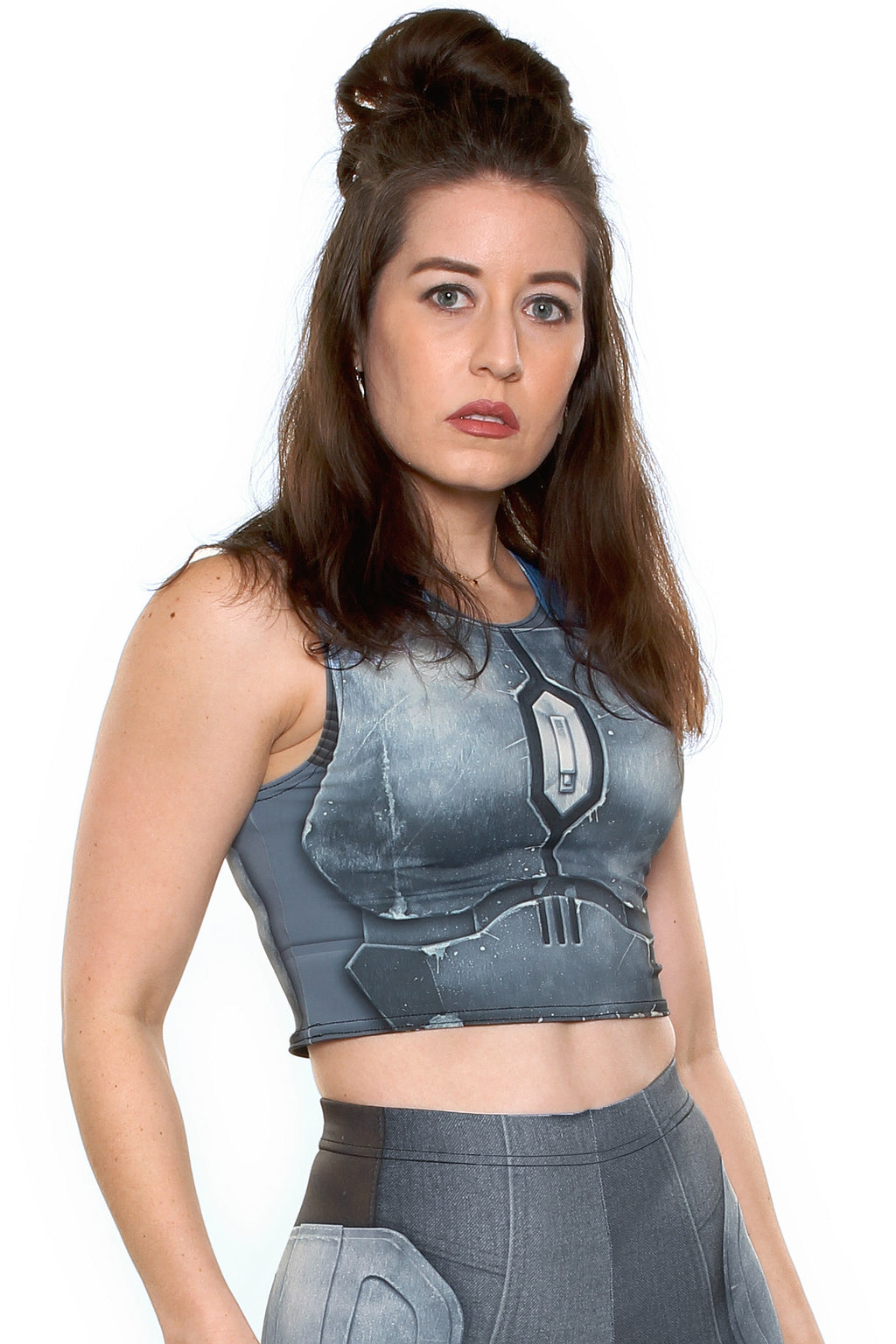Nighthawk Grey Crop Top