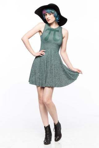 Pi (Chalkboard Variant) A-Line Dress