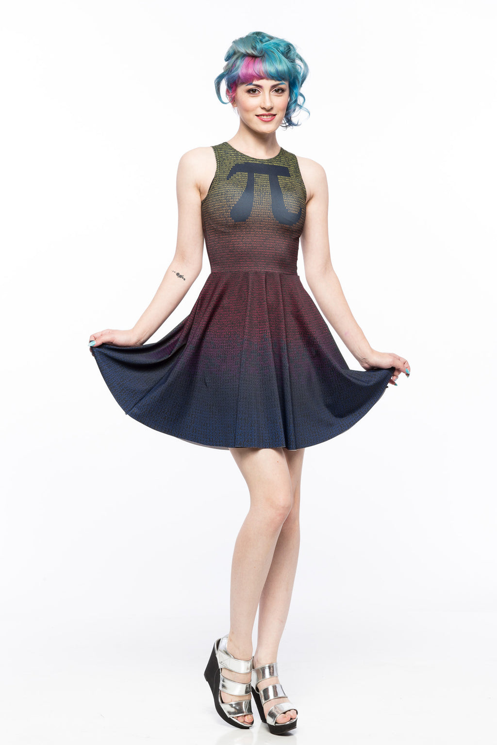Pi (Rainbow Variant) A-Line Dress