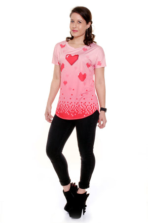 Pixelated Love Loose Fit Tunic