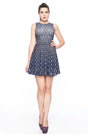 Scale Mail A-Line Dress