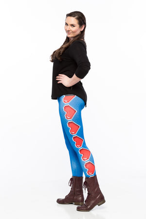 Loaded Hearts (Blue Variant) Leggings