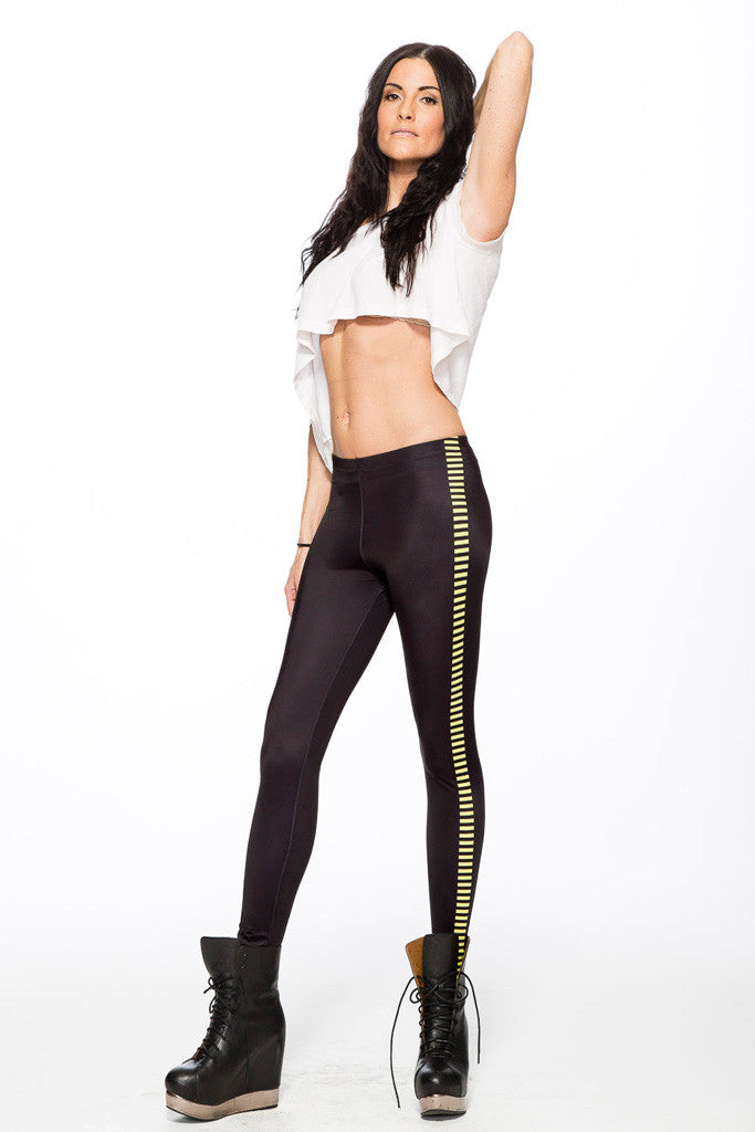 Bloodstripe Leggings - Yellow