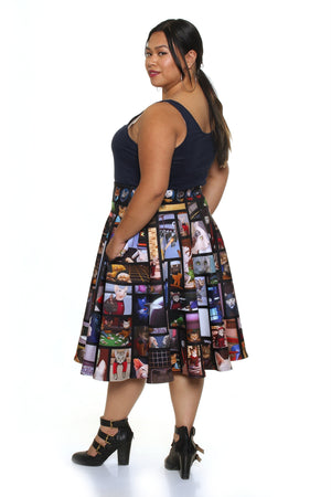 Star Trek™ TNG Cats Midi Skirt