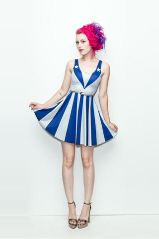 The Patriot Girl Dress (White Variant) - A-Line - Archived