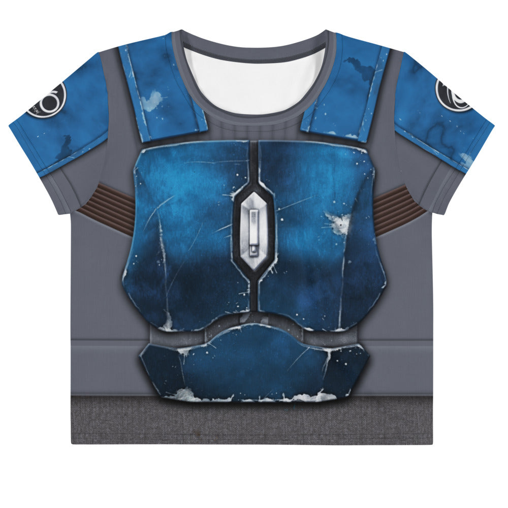 Nighthawk Blue Loose Crop Top
