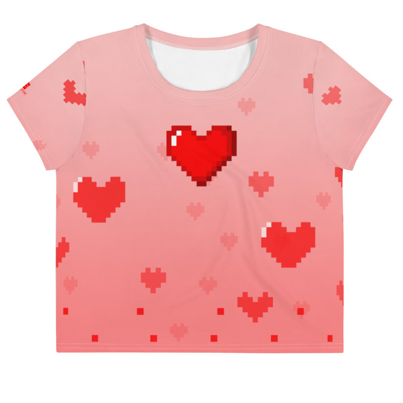 Pixelated Love Loose Crop Top