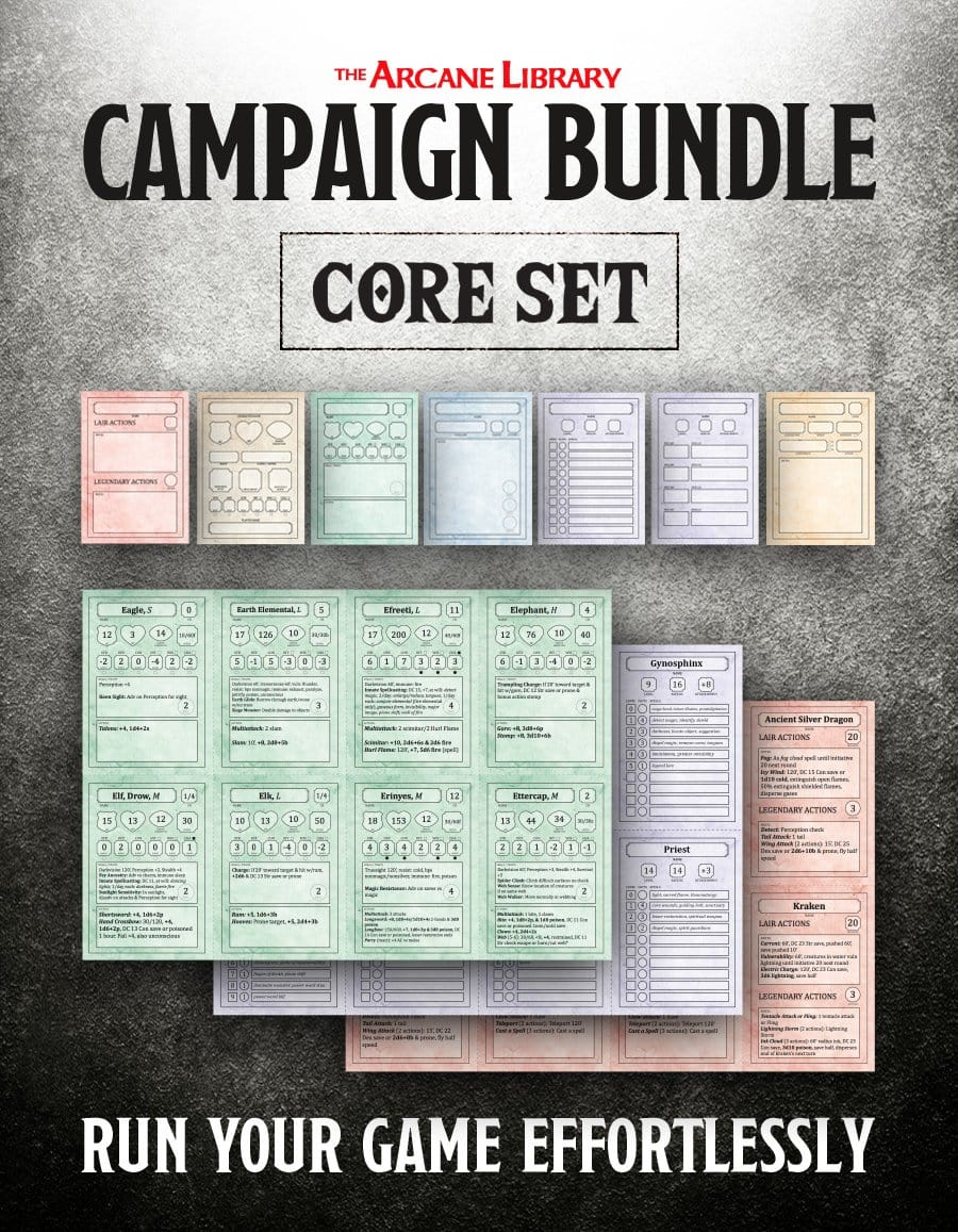 Campaign Bundle: Combat Cards Core Set (5E)