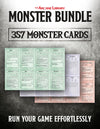 Monster Bundle: 357 Pre-Filled Monster Cards (5E)