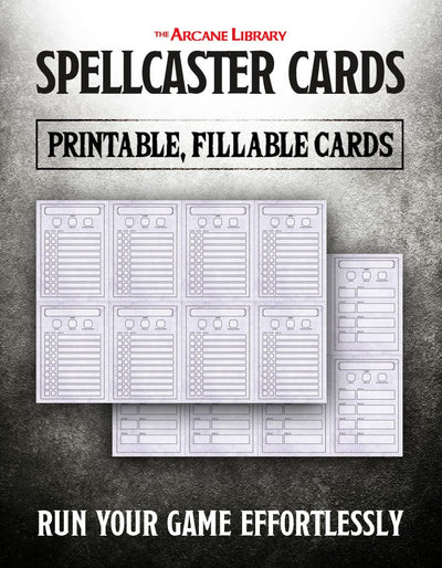 Fillable Spellcaster Cards (5E)