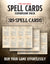 Spell Cards Expansion Pack: 319 Pre-Filled Spells (5E)