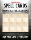 Fillable Spell Cards (5E)