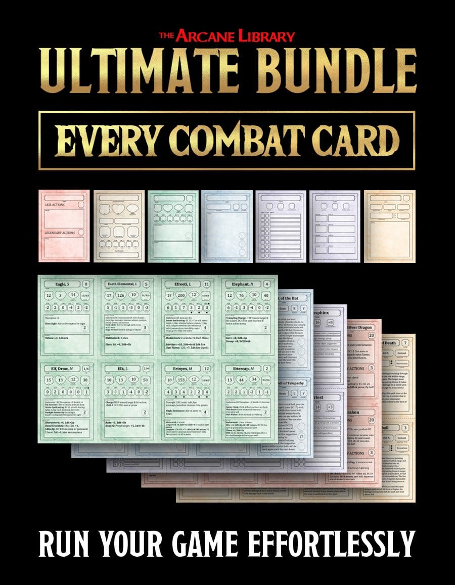 Ultimate Bundle: Combat Cards Full Set (5E)