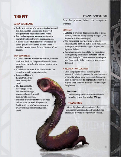 Masque of the Worms, 1st level (5E)