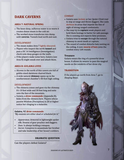 Shadows of Lastwatch Keep, 4th level