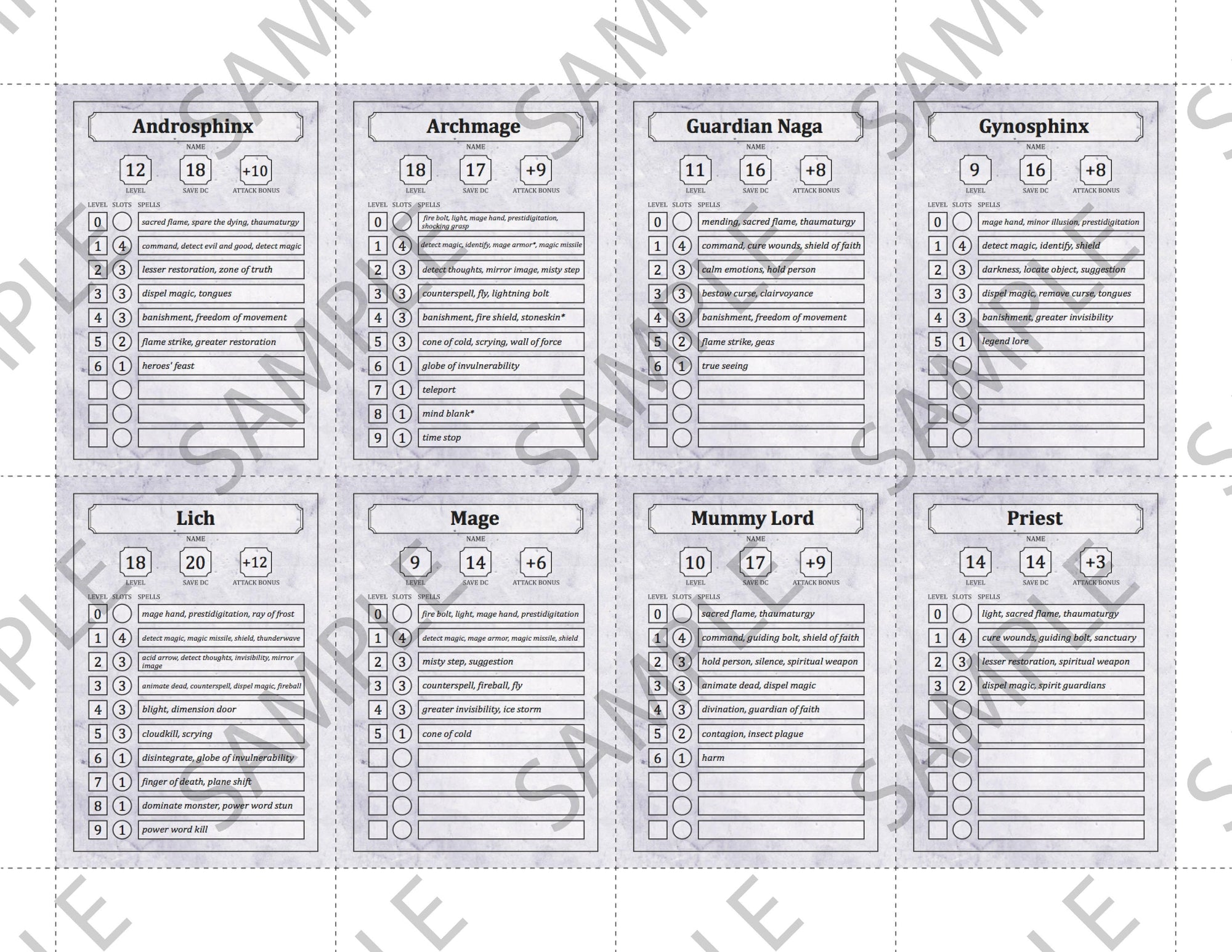 It is a picture of Printable Monster Cards 5e intended for formfillable monster pdf