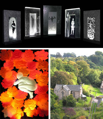 Alison Kinnaird MBE - Art in Glass - Solo Edinburgh Festival Fringe Exhibition