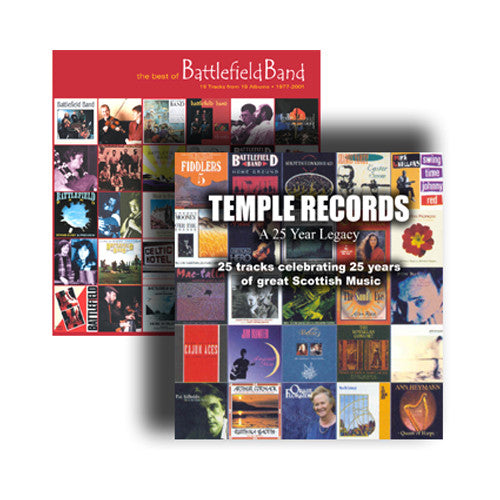 Battlefield Band / Various Artists - The Best of Battlefield Band / Temple Records - A 25 Year Legacy (2 CD set)