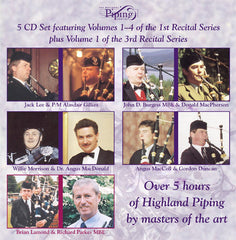 The  Piping Centre 1st Recital Series (5 CD Boxed Set) Cover