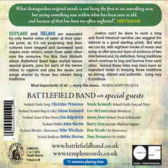 Back cover of Battlefield Band's Beg & Borrow album