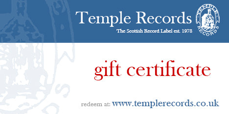 Temple Records Gift Certificate