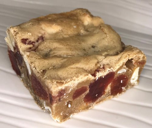 Strawberry White Chocolate Blondies - Critical Hit Cookies