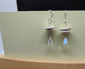 Adirondack Cairns with Rainbow Moonstone Drops