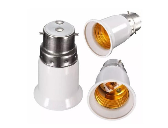 B22 to E27 LED Light Bulb Adapter