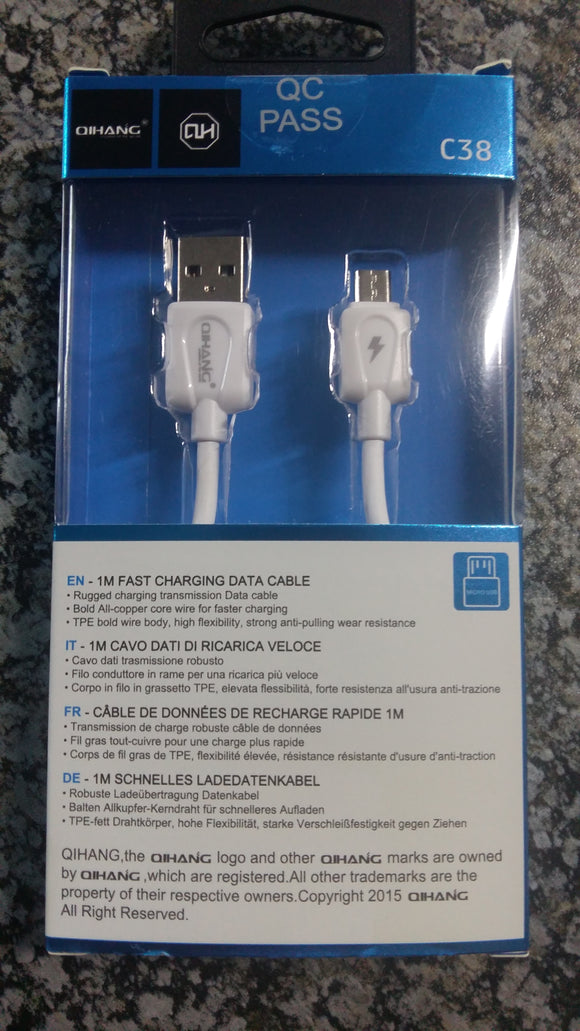 ##Buy 10 get 1 FREE## Qihang C38 Quick Charge Cable