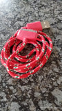 Woven iPod/iPad Charge Cable Red
