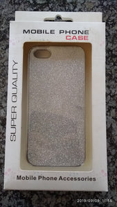 iPhone 5 Siver Glitter Cover