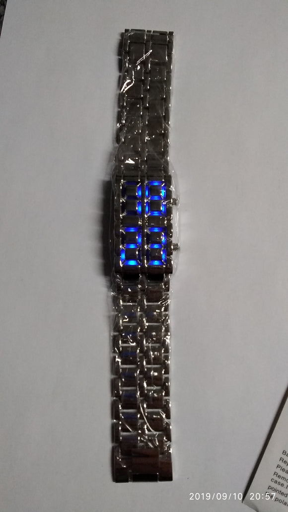 Blue Led Watch Bracelet