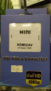Mini HDMI to AV Video Converter