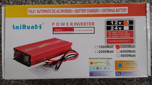 Lairun 3000w 12v Modified Sine Power Inverter