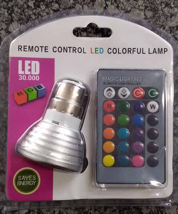 B22 Remote Control RGB Led Downlighter