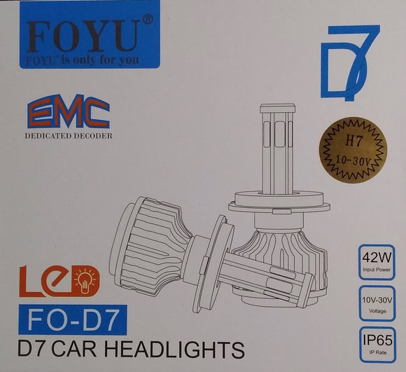 Foyu D7 H7 42watt Led Car Headlight Kit