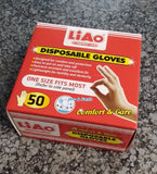 LiAo Disposable Latex Gloves 50's