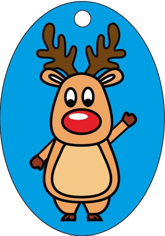 XMAS-03 Sand Art Rudolf Reindeer Christmas Decorations 10 Pack - £14.40 Inc VAT